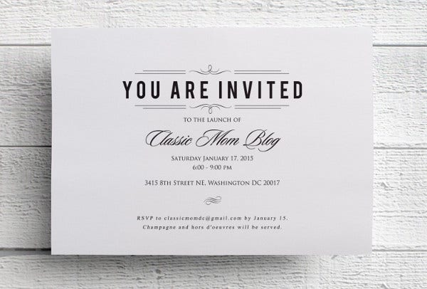-Formal Corporate Event Invitation