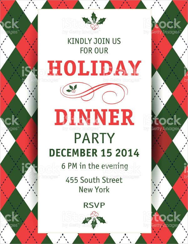 christmas holiday dinner invitation1