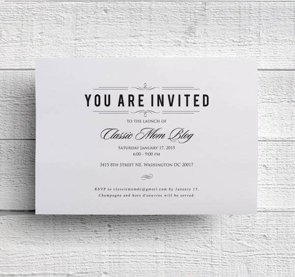 Dinner Invitation Psd Templates  Free  Premium Templates