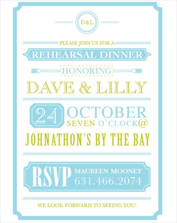 free rehearsal dinner invitation