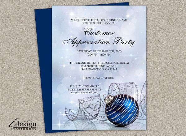 -Customer Appreciation Event Invitation