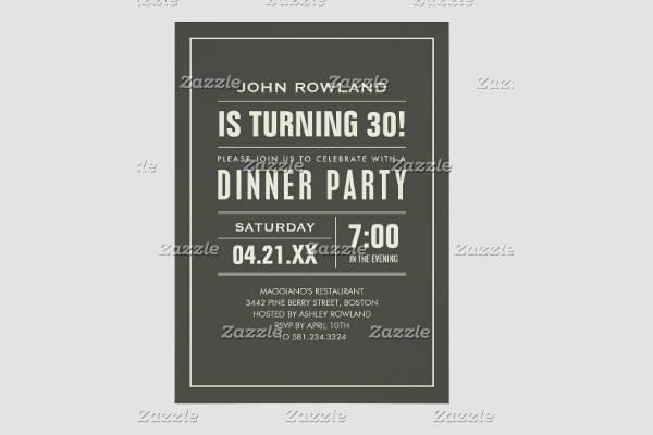 birthday dinner party invitation11