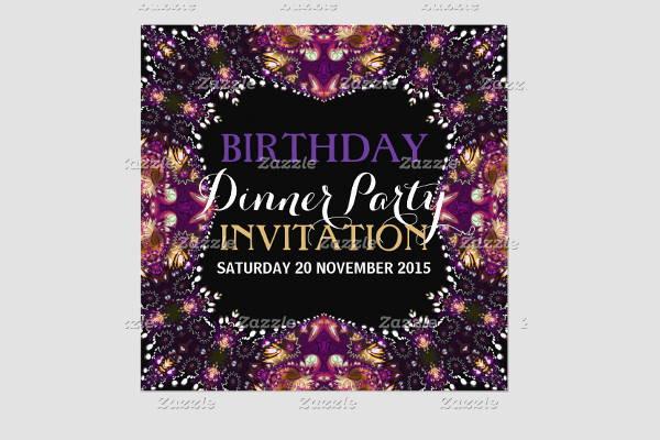 birthday dinner invitation card1