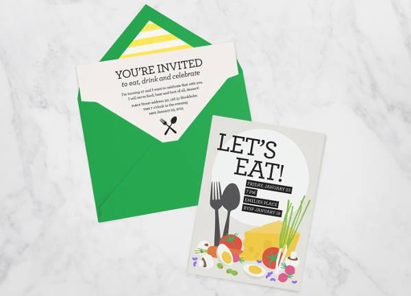 free birthday dinner invitation
