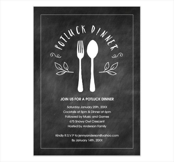 dinner party event invitation