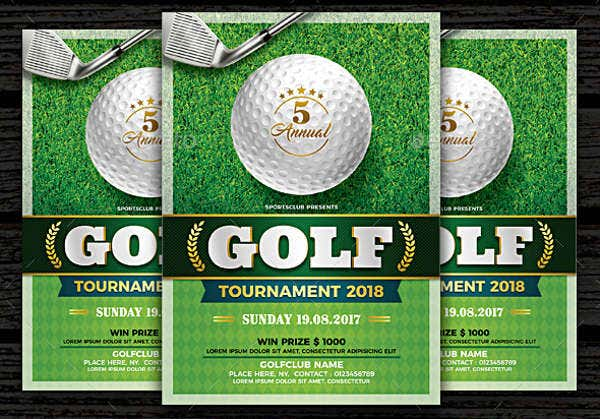 -Charity Golf Event Invitation
