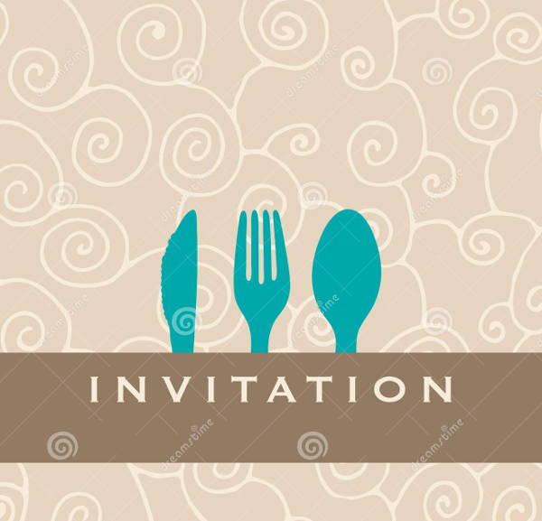 simple dinner invitation