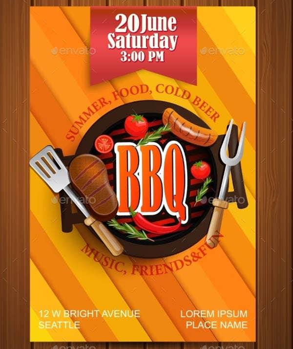 bbq lunch event invitation