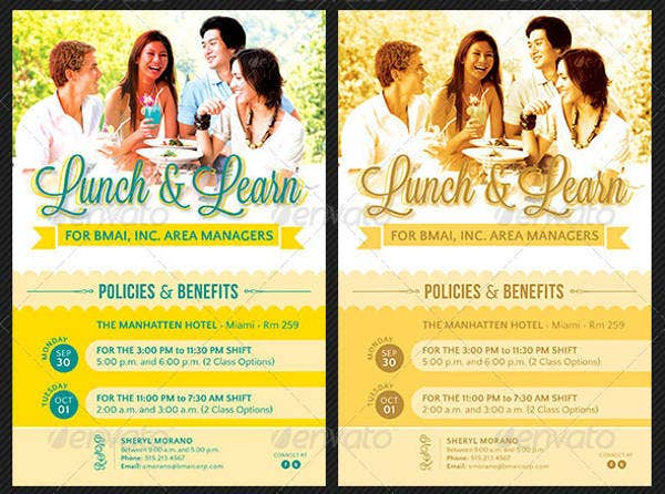 -Corporate Lunch Event Invitation