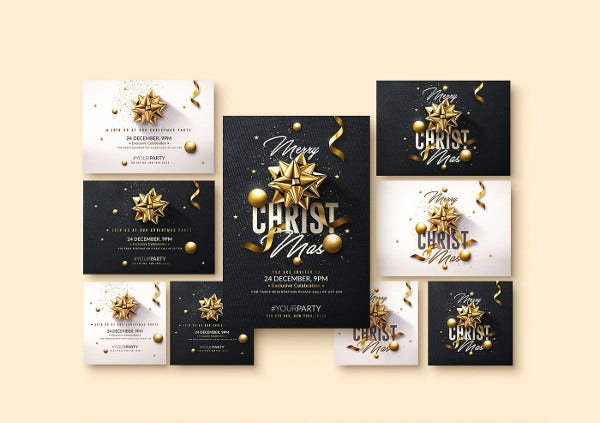 christmas party event invitation