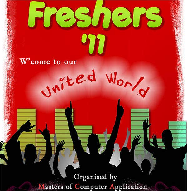 freshers party event invitation