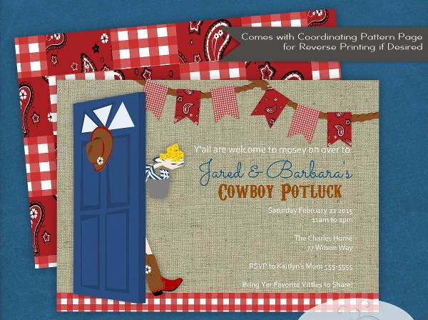 -BBQ Potluck Event Invitation