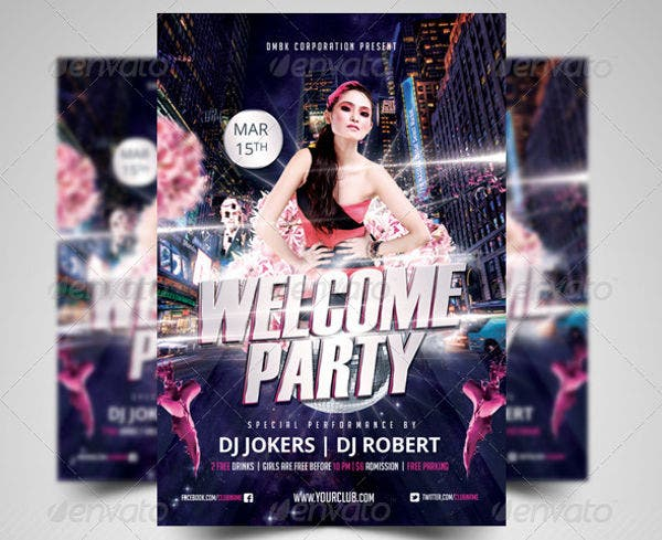 -Welcome Party Event Invitation
