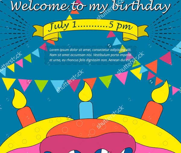 Birthday Welcome Event Invitation