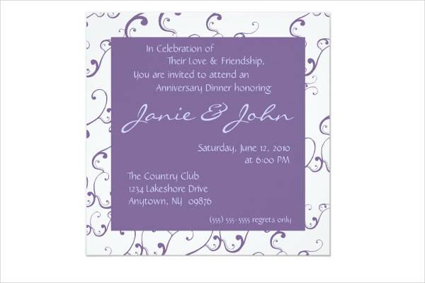 anniversary dinner invitation card1