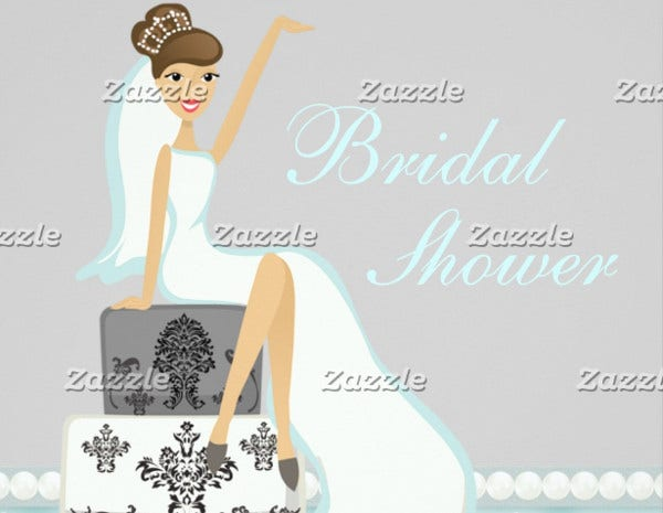 Spa Bridal Shower Party Invitation
