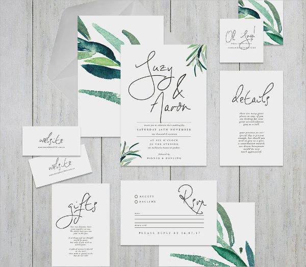 diy wedding event invitation