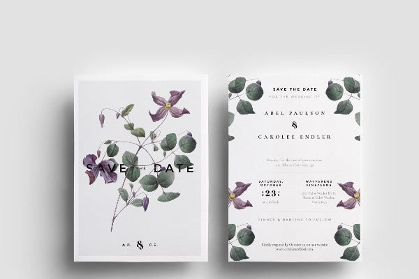 modern wedding event invitation
