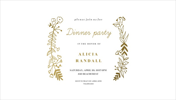 Wonderful Dinner Event Invitation Wording Idea Invatation Template