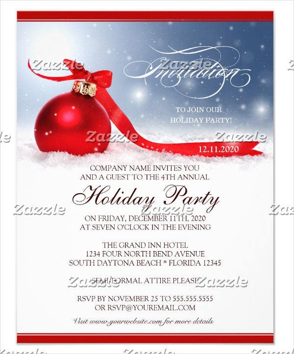 Superb Holiday Business Event Invitation Template Ideas Invitation Event Sample