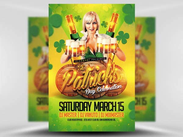 st patricks day celebration flyer