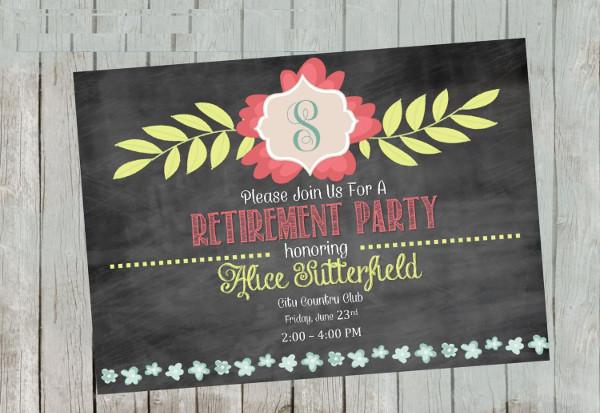 -Printable Retirement Event Invitation
