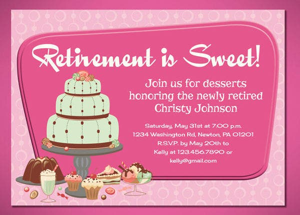 retirement event invitation vector
