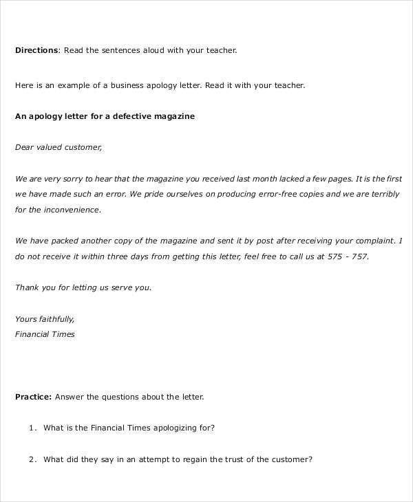 formal business apology letter template1 engoocomtw