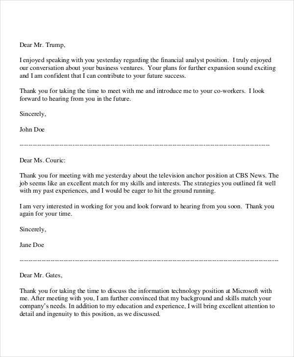 formal business thank you letter template