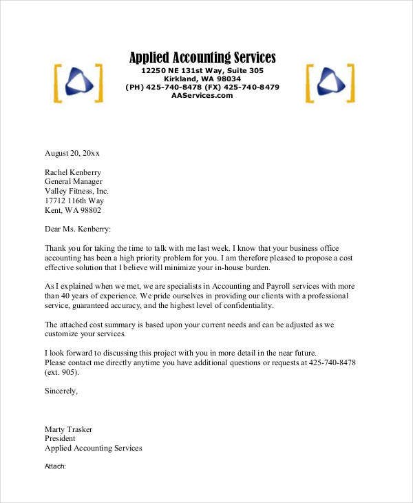 business proposal letter in pdf