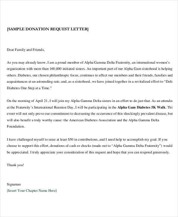 formal donation request letter template1