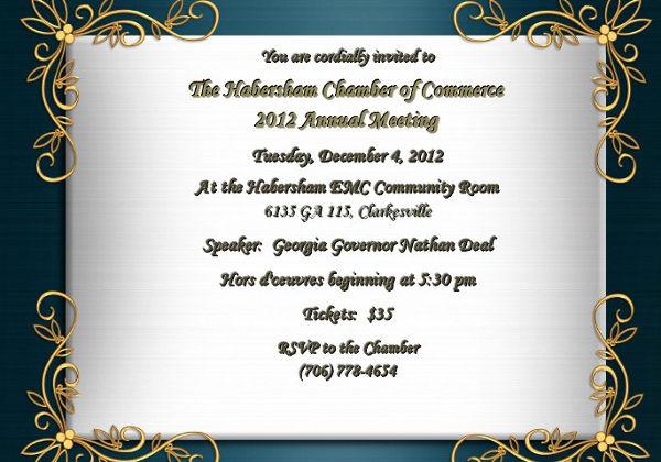 -Printable Annual Event Invitation