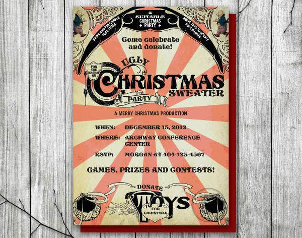 -Christmas Charity Event Invitation