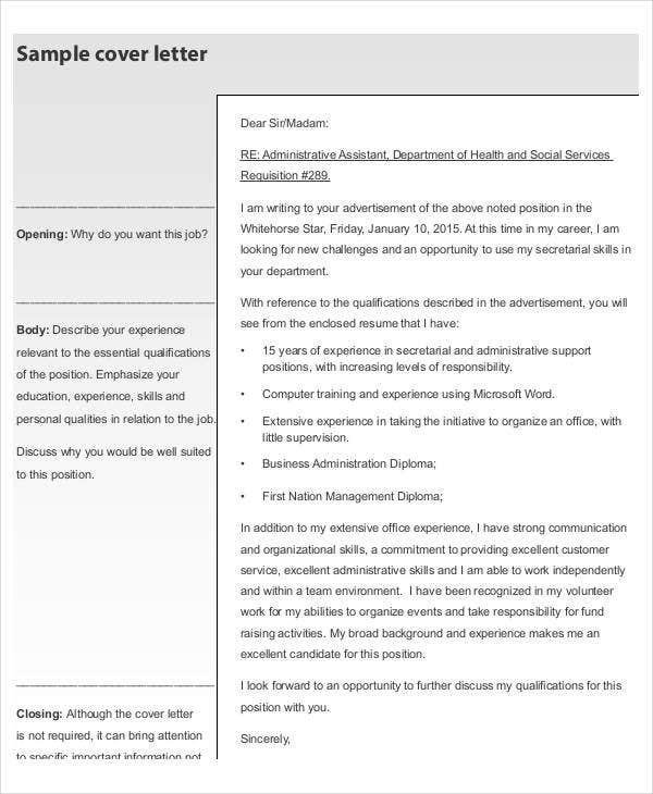 formal resume cover letter template