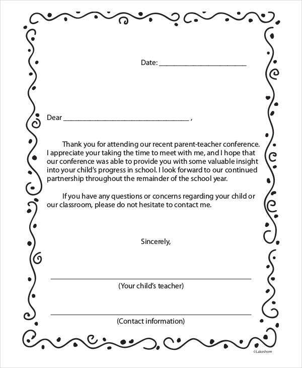 Attractive Formal Thank You Letter From Teacher  Professional Letter Template Word
