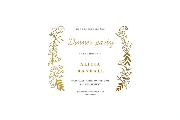 dinner party event invitation1