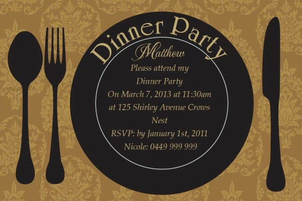 corporate dinner event invitation1