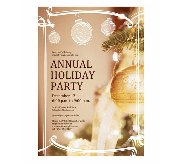 program holiday event invitation