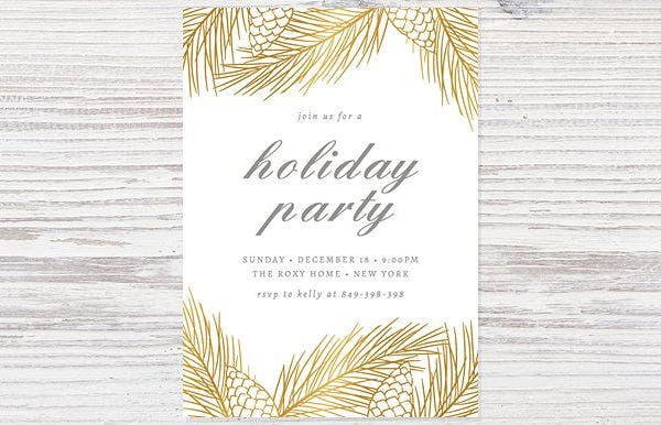 printable holiday event invitation