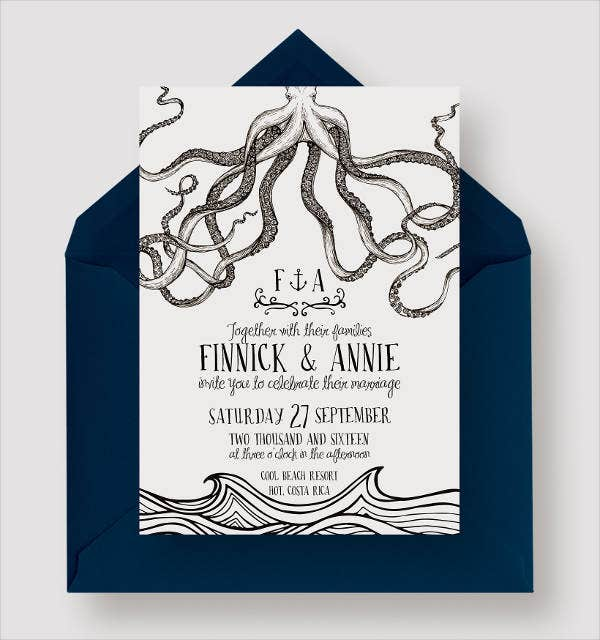 Formal Destination Wedding Invitation
