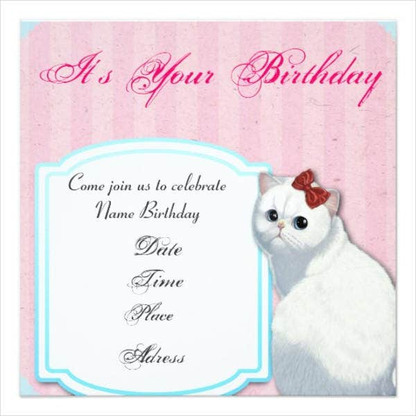 hello kitty birthday invitation card1