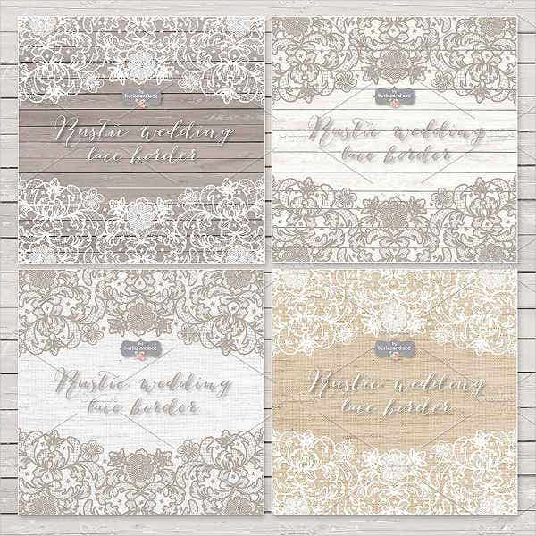 rustic lace wedding invitations