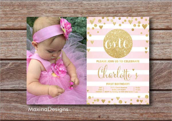 baby girl birthday invitation1
