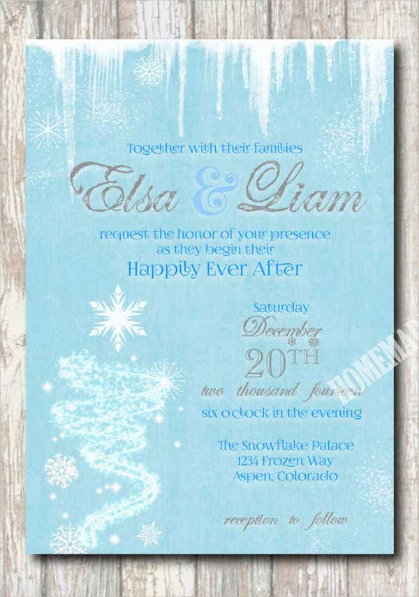 Disney Frozen Wedding Invitations