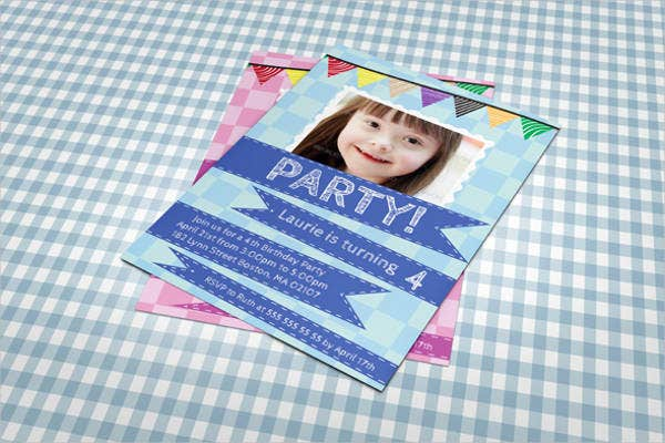 free baby birthday invitation