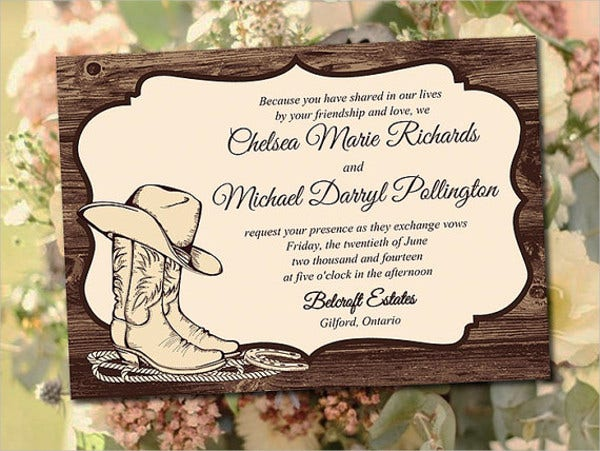 Western Wedding Invitation Wording: Printable Wedding Invitations