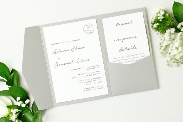 Diy Pocket Wedding Invitations