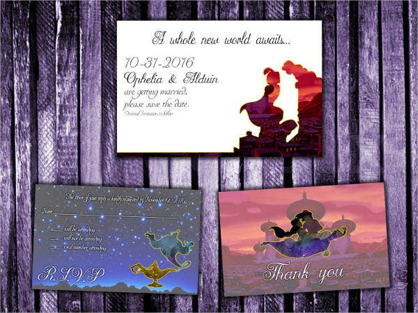 Disney World Wedding Invitations