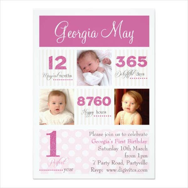 baby birthday invitation card1