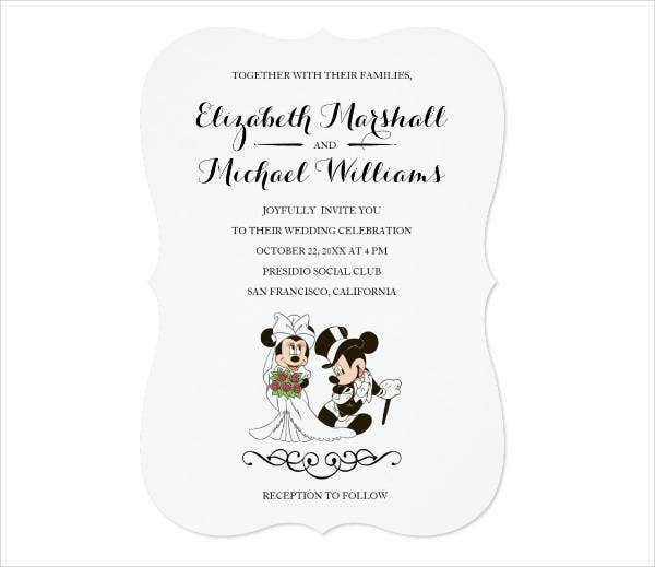 Retro Disney Wedding Invitations